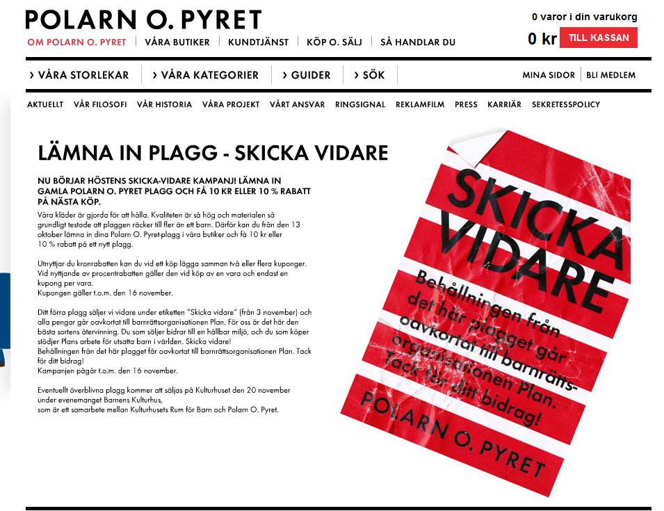 Skärmdump av PoP Skicka Vidare Kampanj