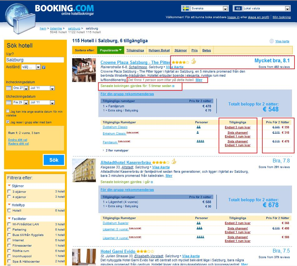 booking 2 : I love e-commerce